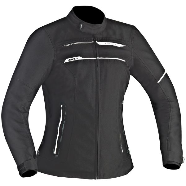 Blouson Moto Ixon Zetec Lady HP Black White