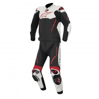 Combinaison Moto Cuir Alpinestars Atem Suit 2PC Black White Red