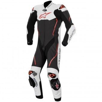 Combinaison Moto Cuir Alpinestars Atem Suit Black White Red