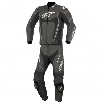 Combinaison Moto Cuir Alpinestars Motegi V2 2PC Black Anthracite White