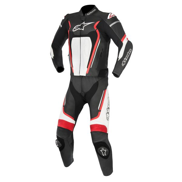 combinaison moto cuir alpinestars motegi v2 black red white au meilleur prix. Black Bedroom Furniture Sets. Home Design Ideas