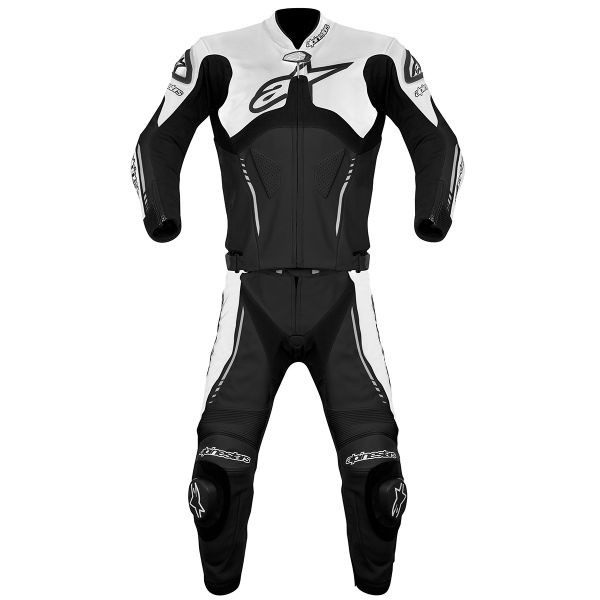 Combinaison Moto Cuir Alpinestars Atem Suit 2PC Black White