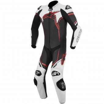 Combinaison Moto Cuir Alpinestars GP Plus Leather Suit Black White Red