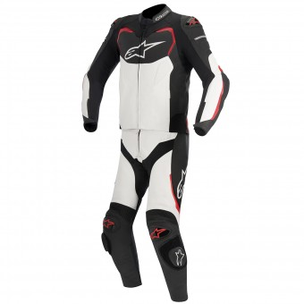 Combinaison Moto Cuir Alpinestars GP PRO 2PC Black White Red