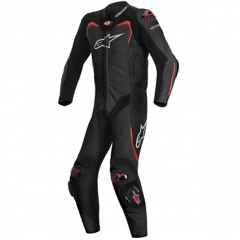 Combinaison Moto Cuir Alpinestars GP PRO Tech Air Bag Compatible Black Red