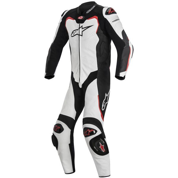 Combinaison Moto Cuir Alpinestars GP PRO Tech Air Bag Compatible White Black Red