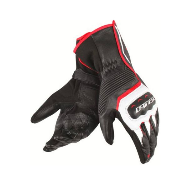 Gants Moto Dainese Assen Black White Red