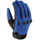 Gants Moto ICON Etched Blue