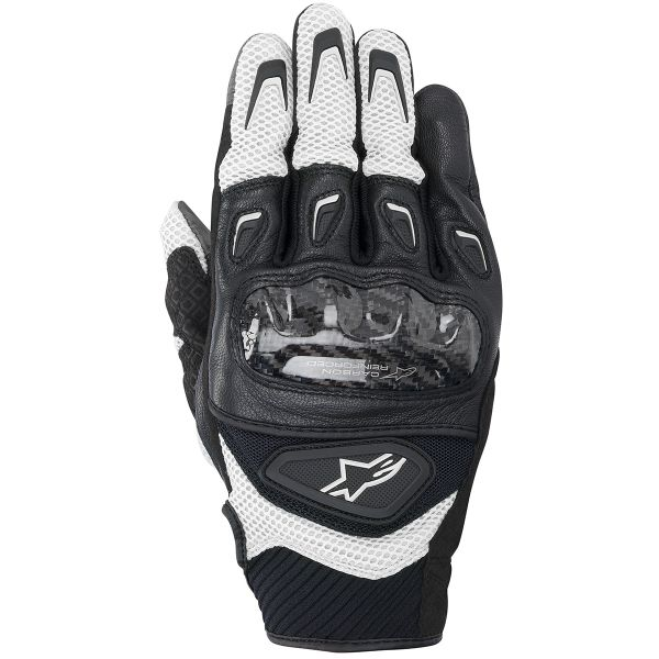 Gants Moto Alpinestars SMX-2 Air Carbon Black White