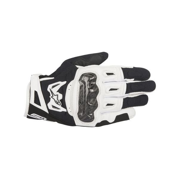 Gants Moto Alpinestars SMX-2 Air Carbon V2 Black White