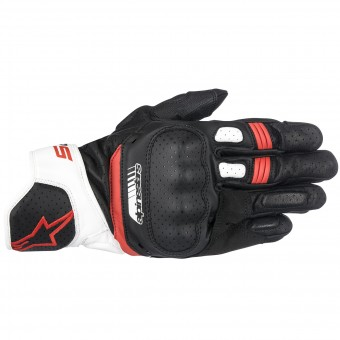 Gants Moto Alpinestars SP-5 Black White Red