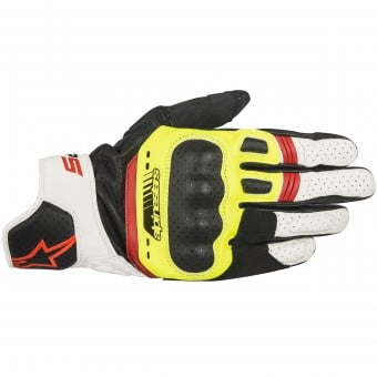 Gants Moto Alpinestars SP-5 Black Yellow Red Fluo