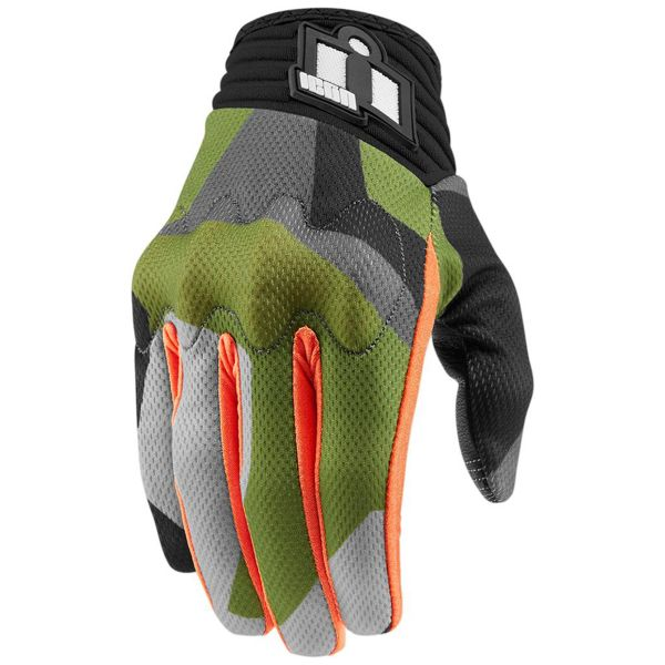Gants Moto ICON Anthem Deployed Green