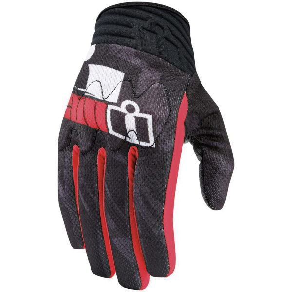 Gants Moto ICON Anthem Primary Red
