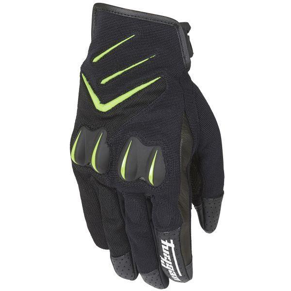 Gants Moto Furygan Delta Black Green Fluo