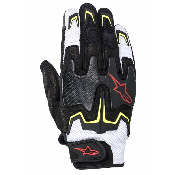 Gants Moto Alpinestars Fighter Air Noir Jaune Rouge