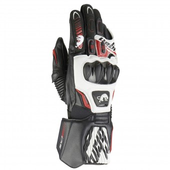 Gants Moto Furygan Fit R2 Black White Red
