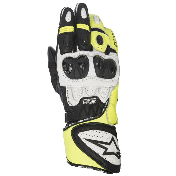 Gants Moto Alpinestars GP Plus R Black White Yellow Fluo