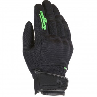 Gants Moto Furygan Jet Evo Kid Black Green Fluo