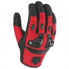 Gants Moto ICON Justice Mesh Red