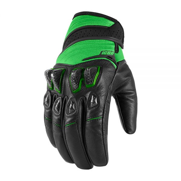 Gants Moto ICON Konflict Black Green