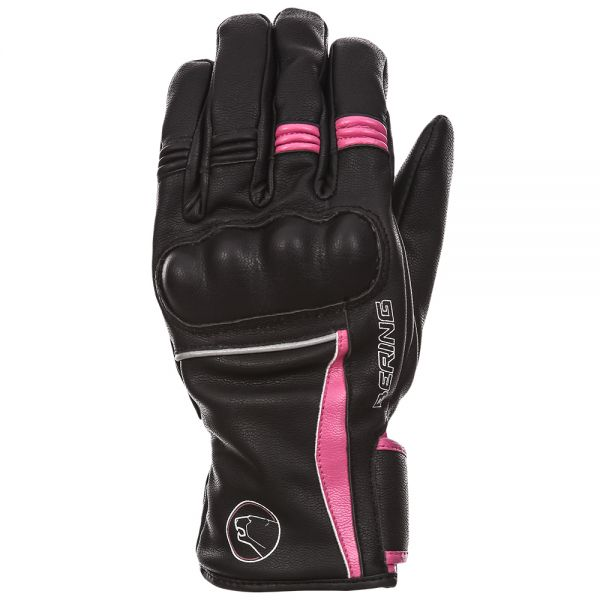 Gants Moto Bering Lady Polka Black Fuschia