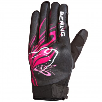 Gants Moto Bering Lady Roberta Black Fuschia