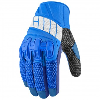 Gants Moto ICON Overlord Mesh Blue