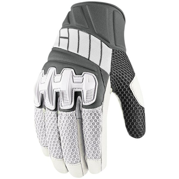 Gants Moto ICON Overlord Mesh White