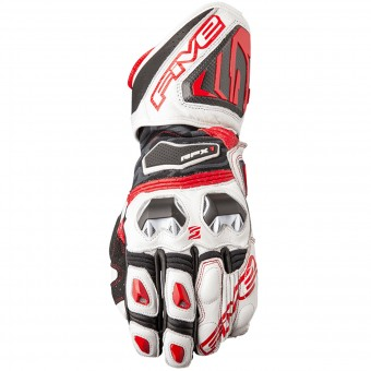 Gants Moto Five RFX1 White Red
