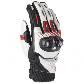 Gants Moto Furygan RG19 White Black Red