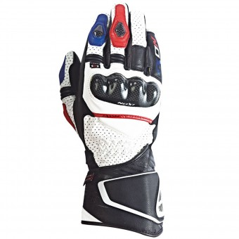 Gants Moto Ixon Rs Circuit Hp Black White Red Blue