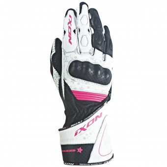 Gants Moto Ixon RS Curve HP Black White Fuchsia