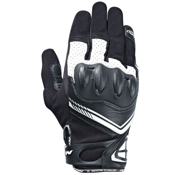 Gants Moto Ixon RS Drift Black White