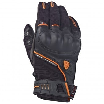 Gants Moto Ixon RS Grip HP Noir Orange