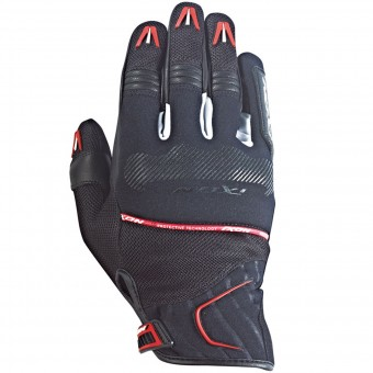 Gants Moto Ixon RS Lap Hp Black White Red
