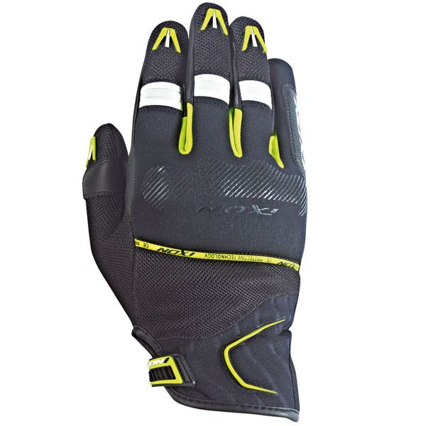 Gants Moto Ixon RS Lap Hp Black White Yellow