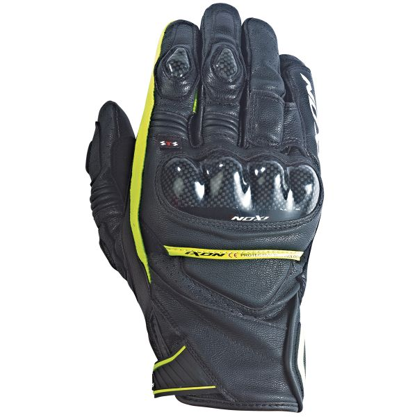 Gants Moto Ixon RS Pistol Hp Black Yellow