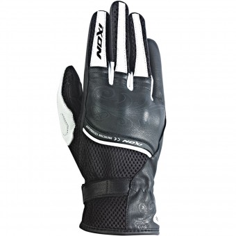 Gants Moto Ixon RS Shine Black White