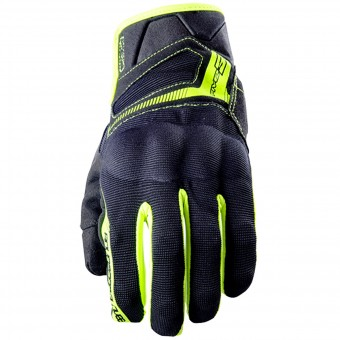 Gants Moto Five RS3 Black Yellow Fluo