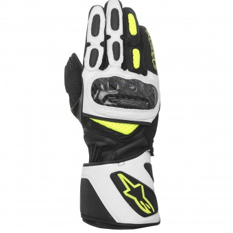 Gants Moto Alpinestars SP-2 Black White Yellow Fluo
