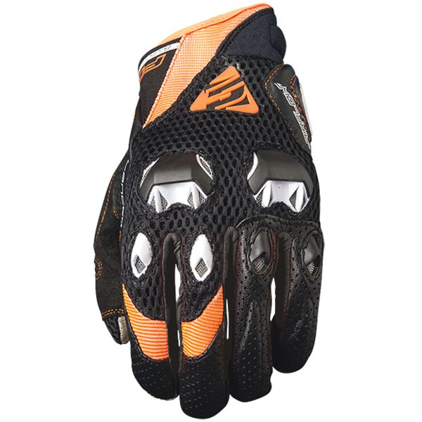 Gants Moto Five Stunt Evo Airflow Black Orange Fluo