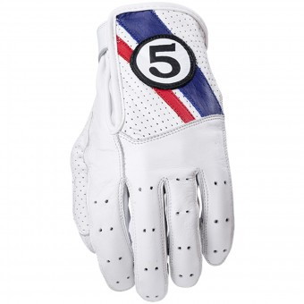 Gants Moto Five Texas White Blue