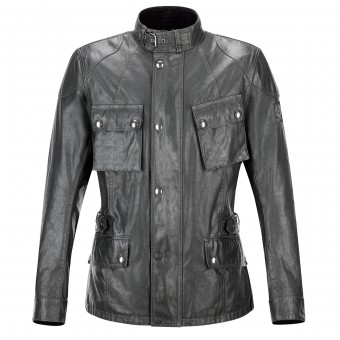 Veste Moto Belstaff Crosby Resin Green