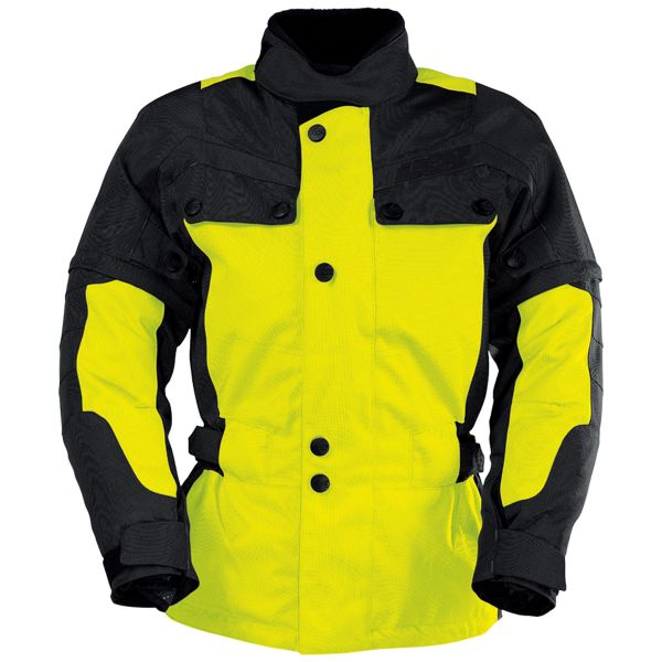 Veste Moto IXS Explorer Jacket II Black Yellow Kid