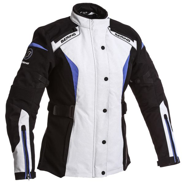 Blouson Moto Bering Lady Safari 3 in 1 Black Grey Blue