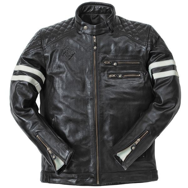 Veste Moto Ride & Sons Magnificient Buffalo Skin Black