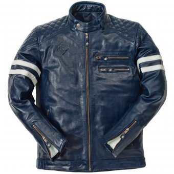 Veste Moto Ride & Sons Magnificient Buffalo Skin Blue