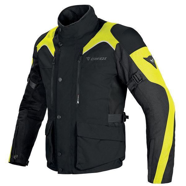Blouson Moto Dainese Tempest D-Dry Black Yellow Fluo