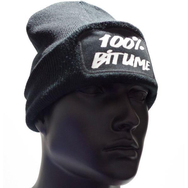 Bonnet 100 bitume beanie black en stock - Boutique 100 bitume ...